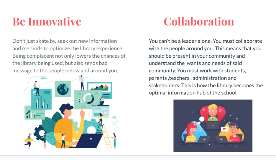 be innovative and collaboration