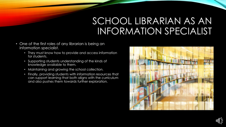school librarian as information specialist
